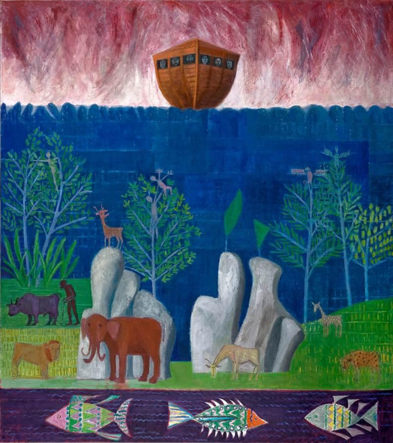 פרשה ונופה. המבול|ציור: אבנר מוריה