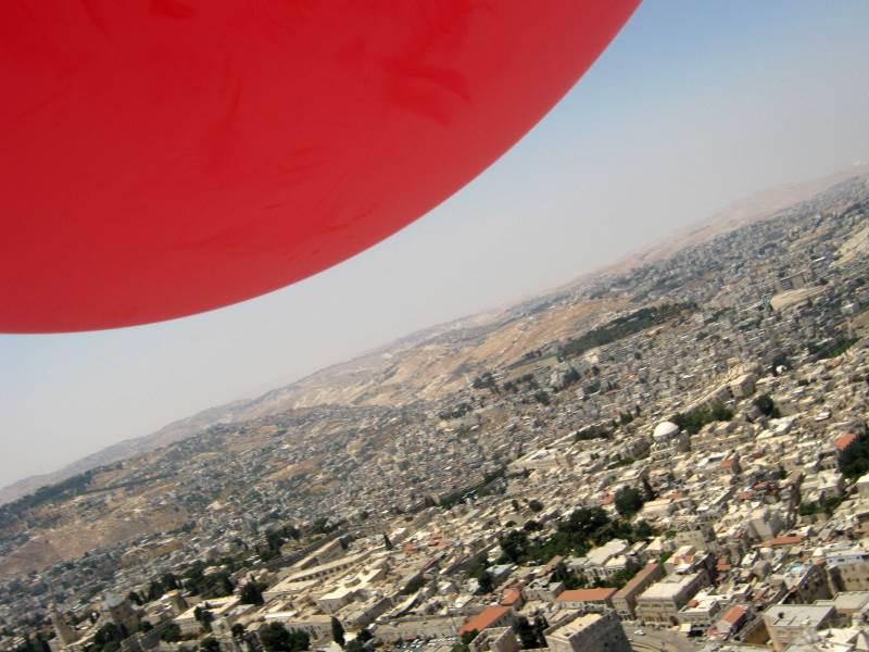 למעלה. מבט על ירושלים מהאוויר|צילום: חגית קיסר