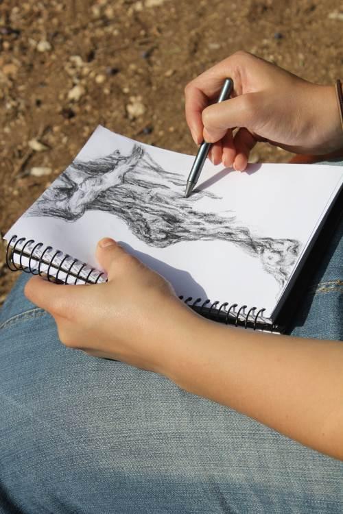 הרבה השתנה. התלמידות יצרו מנדלה בטבע|צילום: מורן דהאן